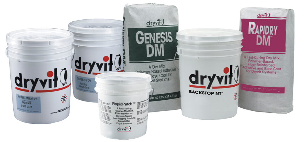 EIFS (Exterior Insulation and Finish System) supplies by Dryvit