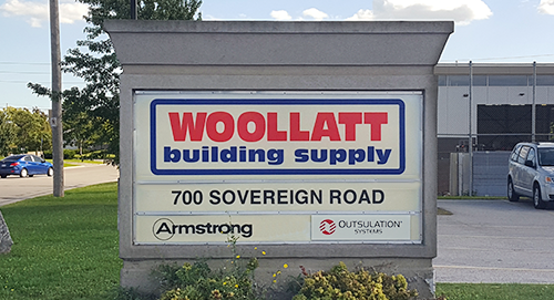 Woollatt signage outside 700 Sovereign Road