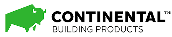 Continental Building Products logo depicting a green bison